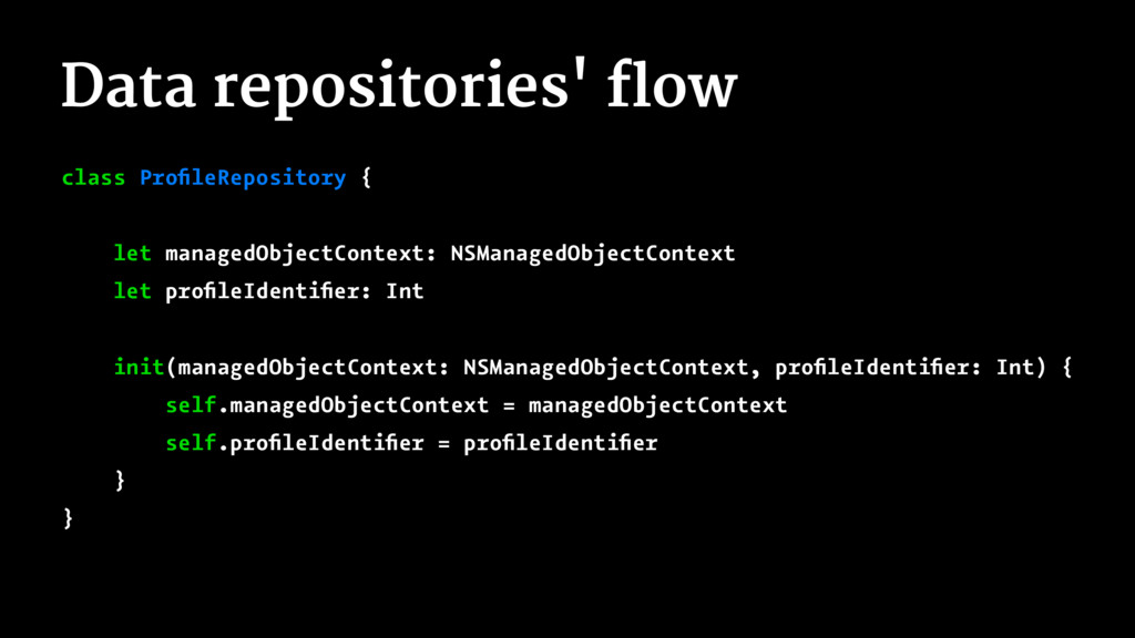 Data repositories' flow class ProfileRepository ...