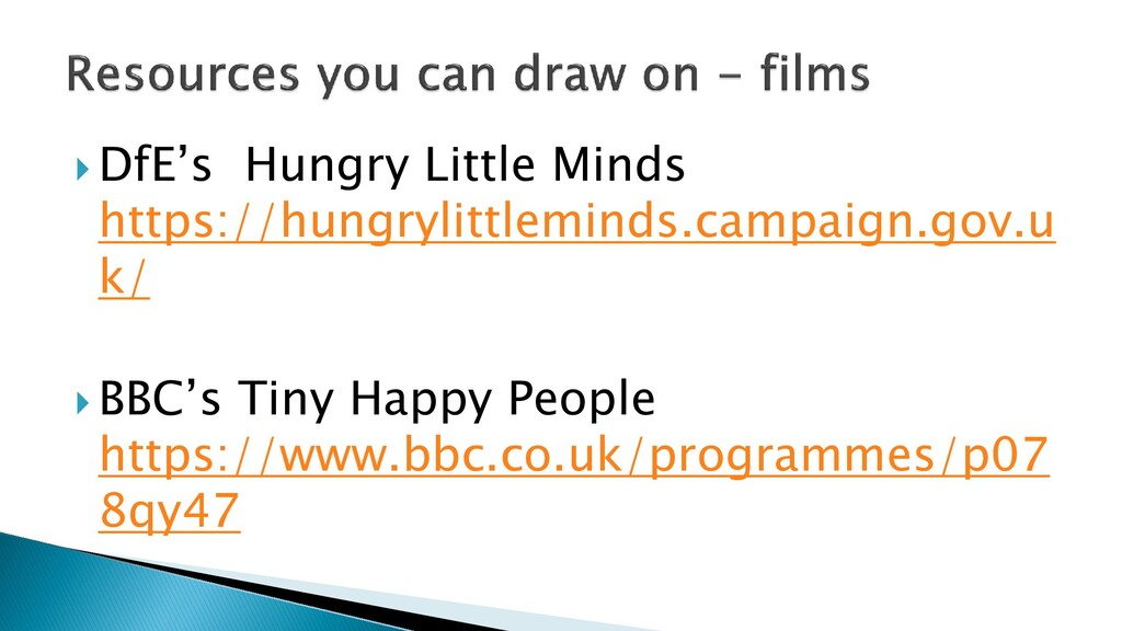  DfE's Hungry Little Minds https://hungrylittl...