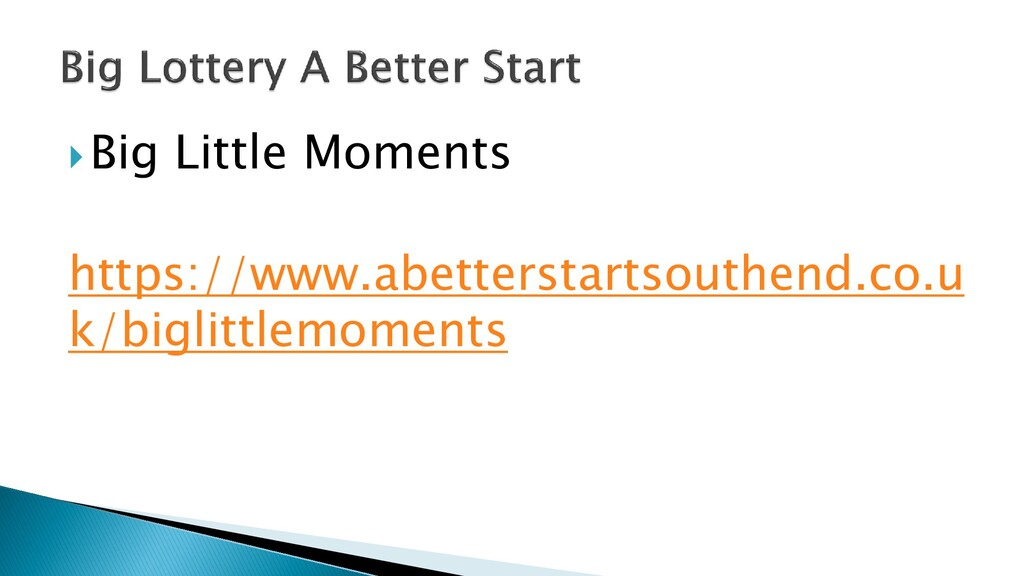 Big Little Moments https://www.abetterstartsou...