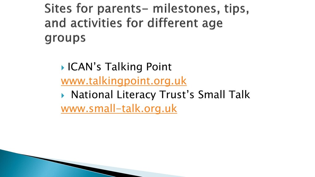  ICAN's Talking Point www.talkingpoint.org.uk ...