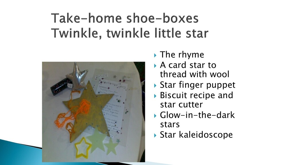  The rhyme  A card star to thread with wool ...