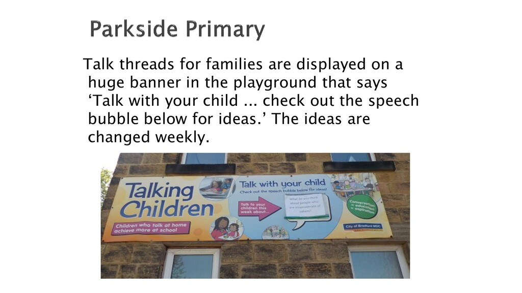 Talk threads for families are displayed on a hu...
