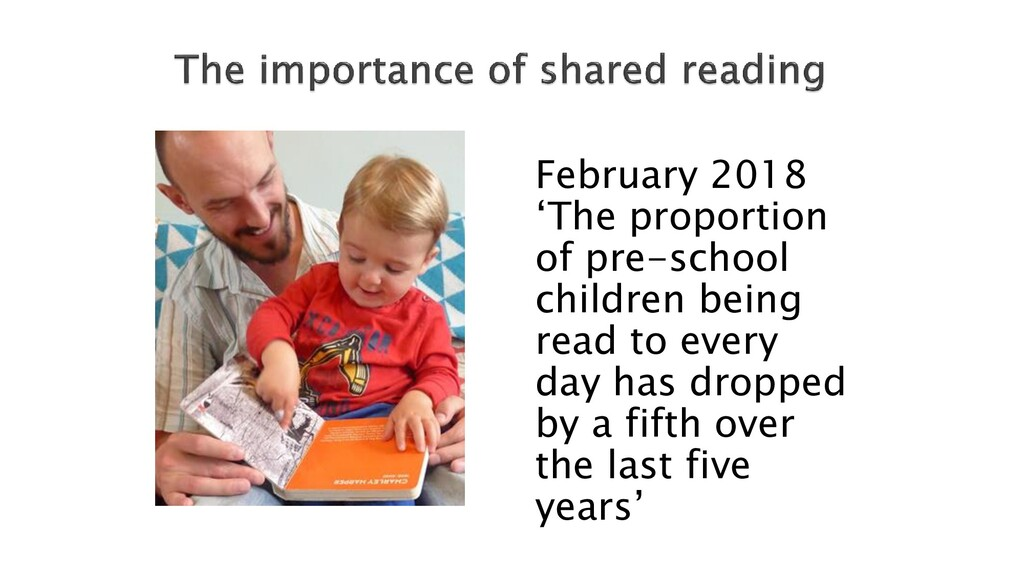 February 2018 'The proportion of pre-school chi...
