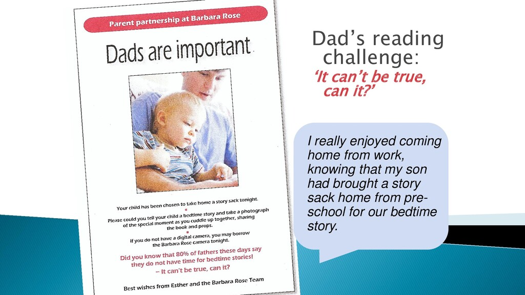 Dad's reading challenge: 'It can't be true, can...