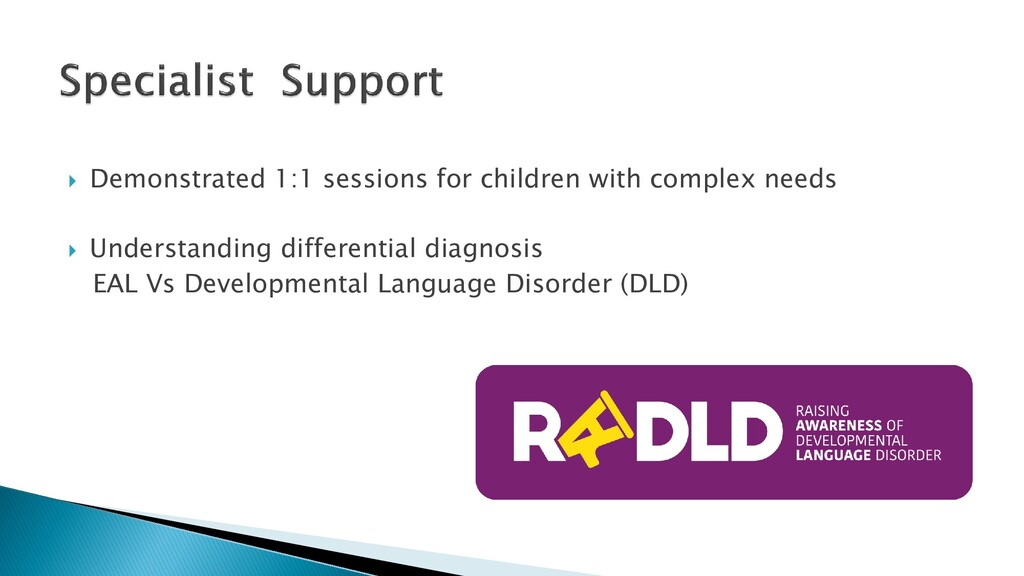  Demonstrated 1:1 sessions for children with c...