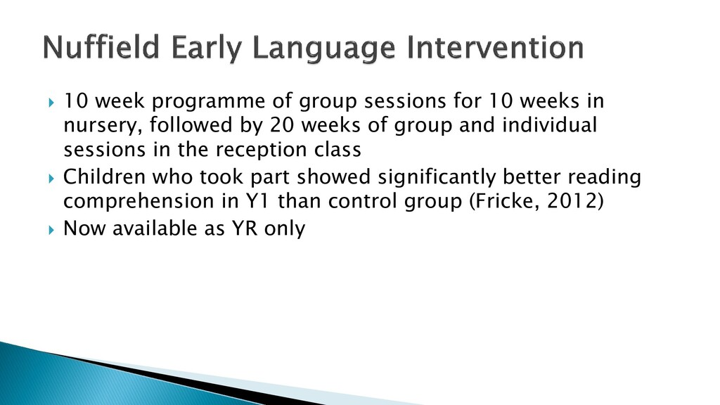  10 week programme of group sessions for 10 we...