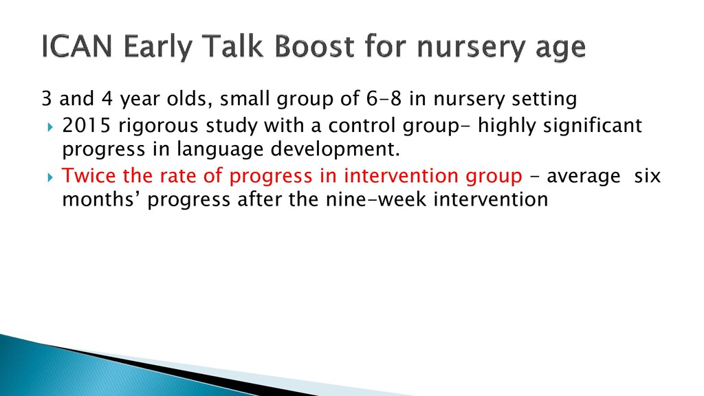 3 and 4 year olds, small group of 6-8 in nurser...