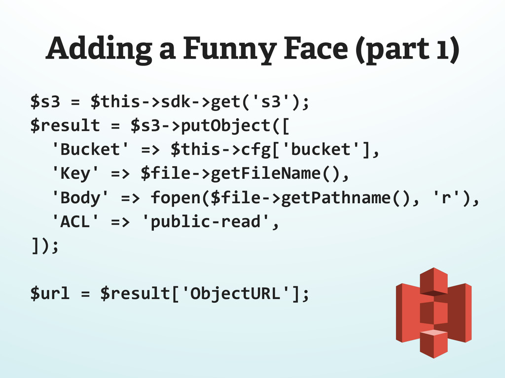 Adding a Funny Face (part 1) $s3 = $this-...