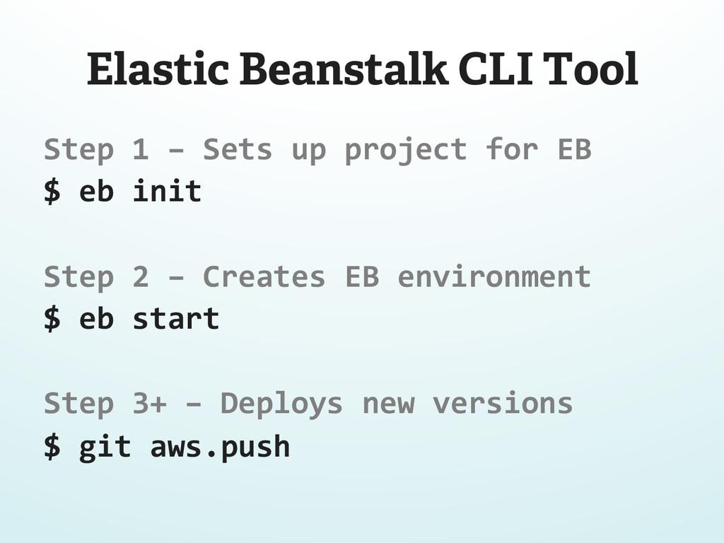 Elastic Beanstalk CLI Tool Step 1 – Se...