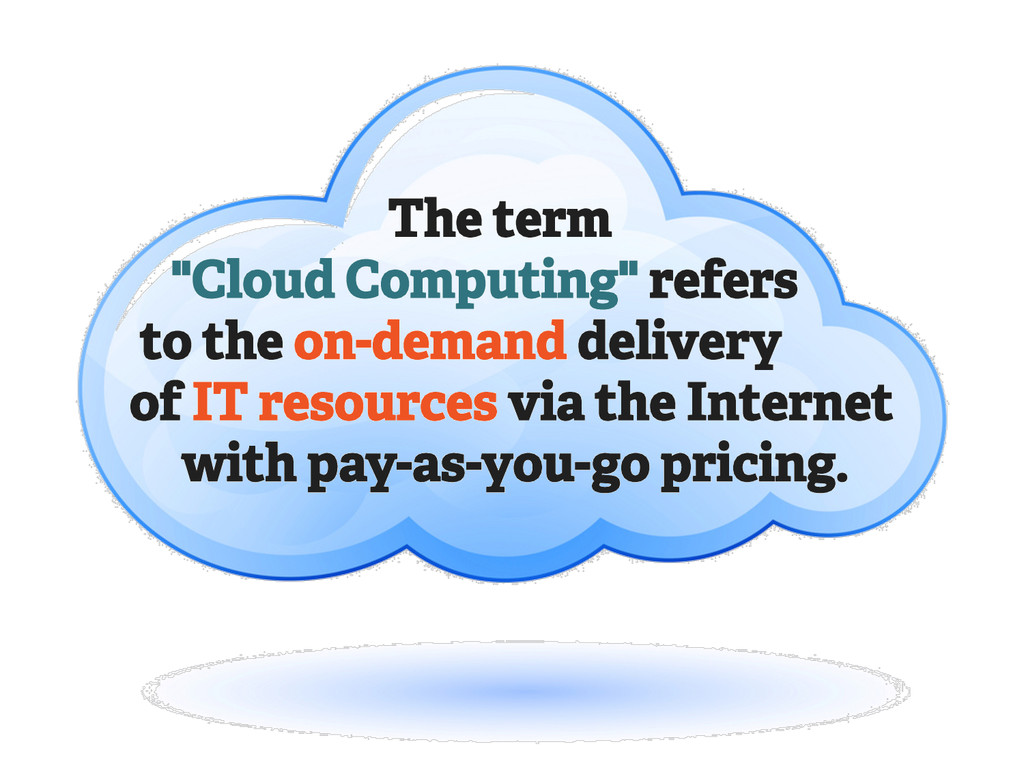 """The term """"Cloud Computing"""" refers to the on-dem..."""