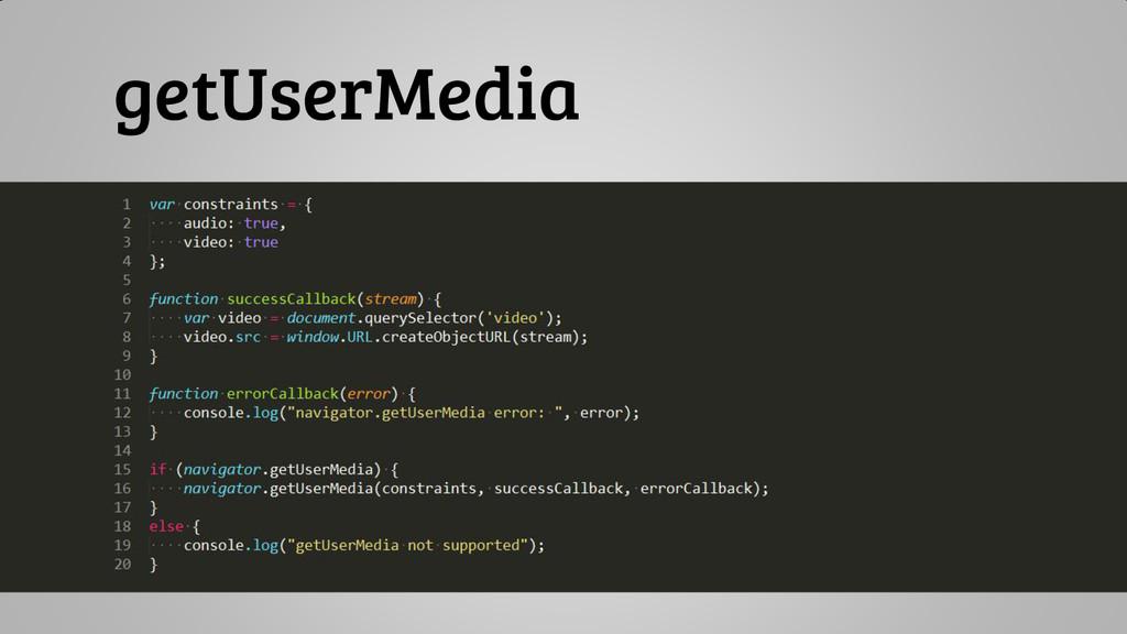 getUserMedia