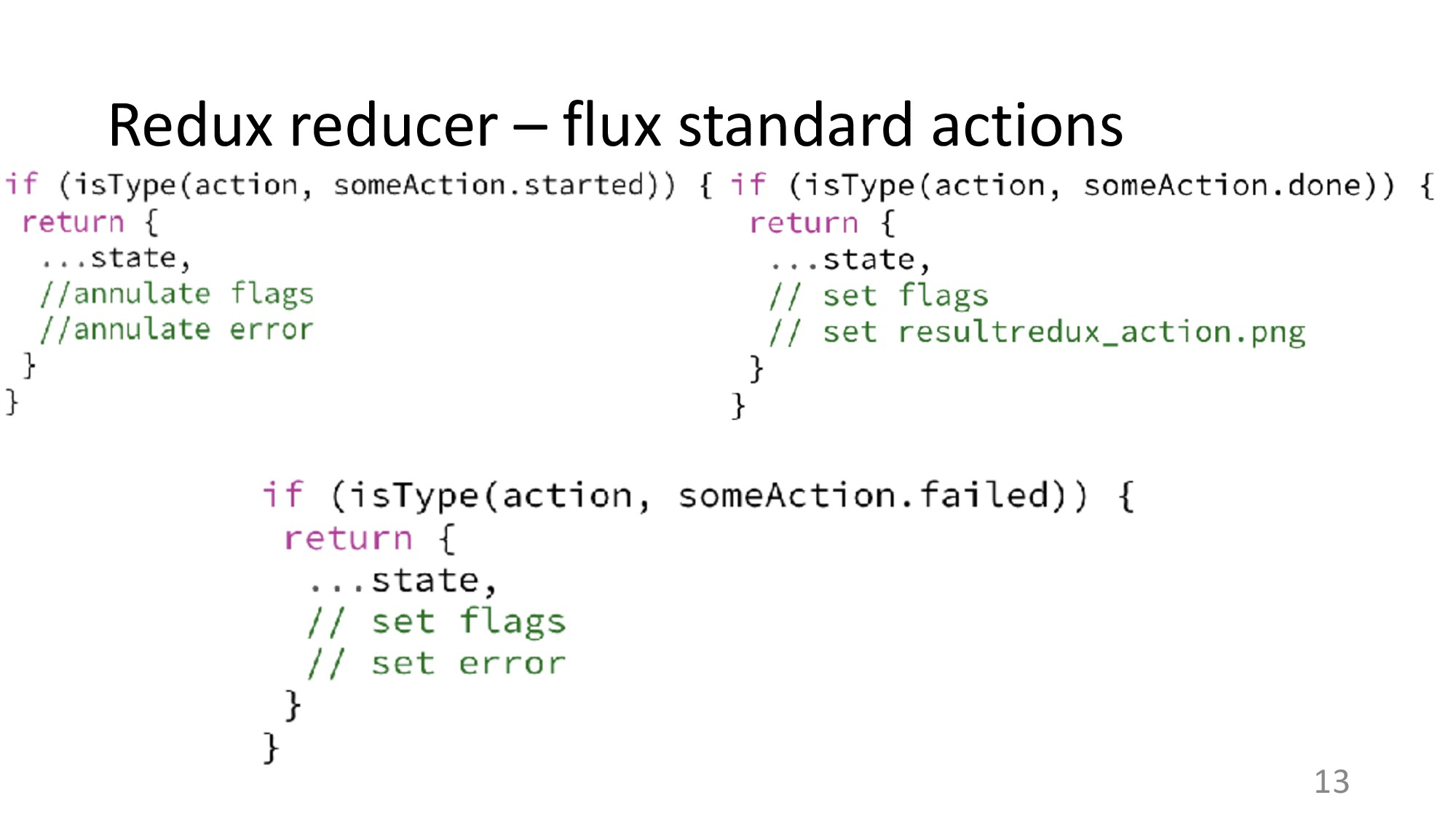 Redux reducer – flux standard actions 13