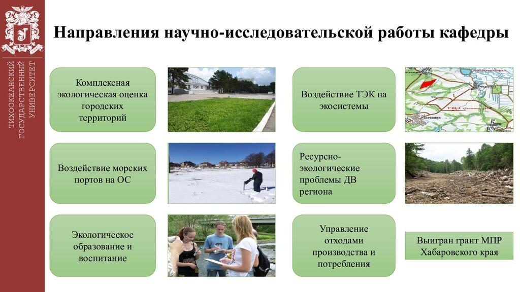 ТИХООКЕАНСКИЙ ГОСУДАРСТВЕННЫЙ УНИВЕРСИТЕТ Напра...