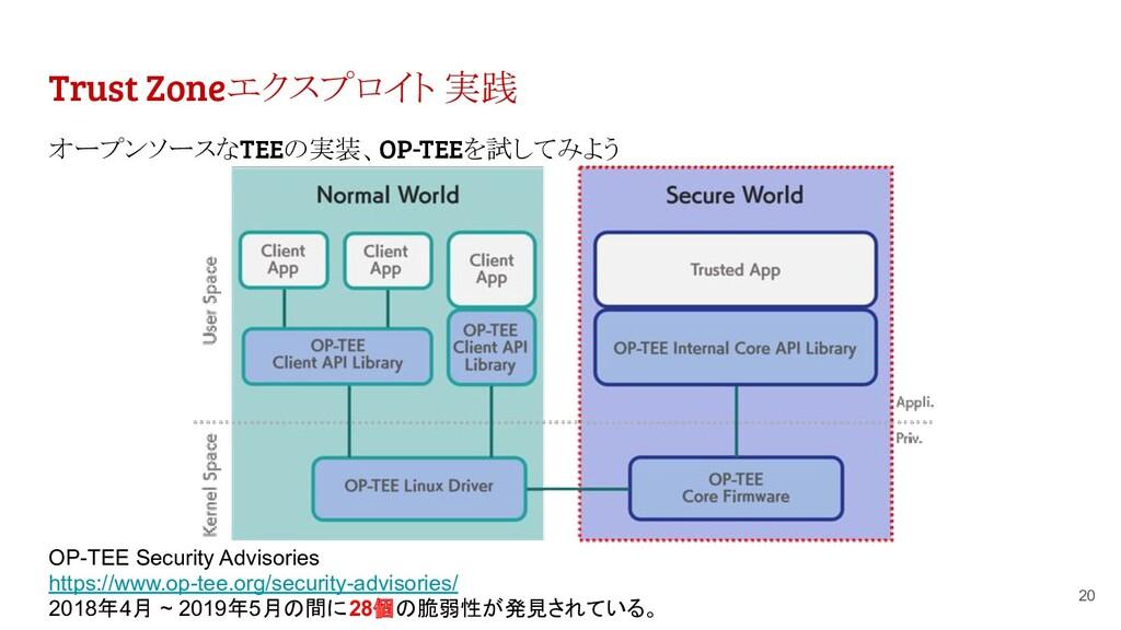 Trust Zoneエクスプロイト 実践 オープンソースなTEEの実装、OP-TEEを試してみ...