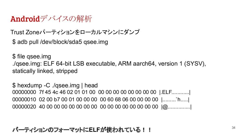 Androidデバイスの解析 34 Trust Zoneパーティションをローカルマシンにダンプ...
