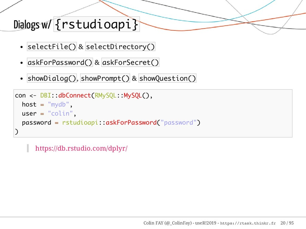 Dialogs w/ {rstudioapi} selectFile() & selectDi...