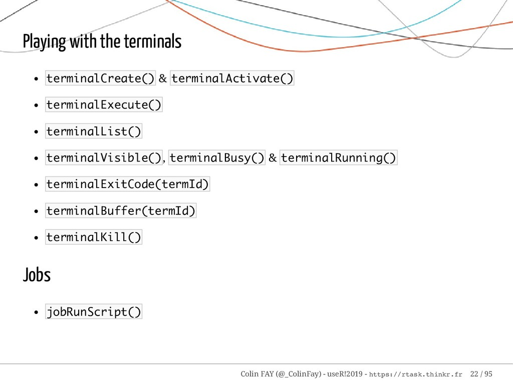 Playing with the terminals terminalCreate() & t...