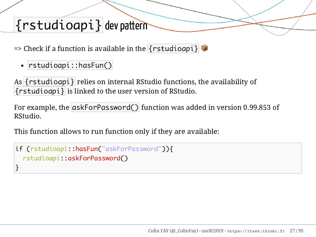 {rstudioapi} dev pattern => Check if a function...
