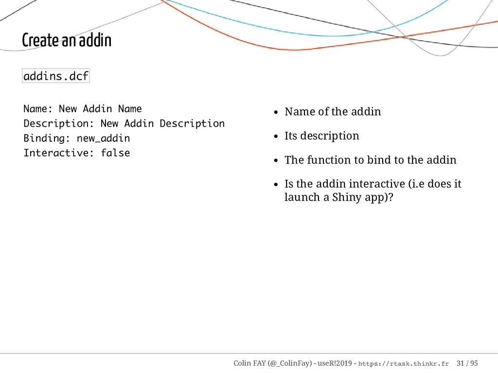 Name: New Addin Name Description: New Addin Des...