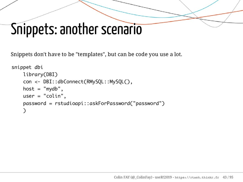 Snippets: another scenario Snippets don't have ...