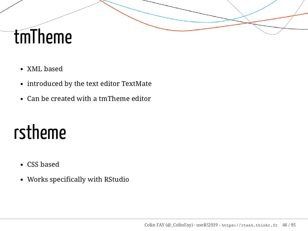 tmTheme XML based introduced by the text editor...