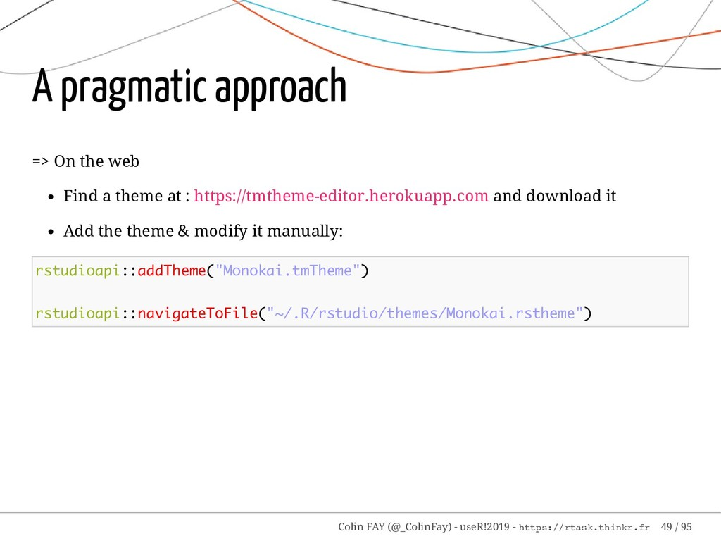 A pragmatic approach => On the web Find a theme...