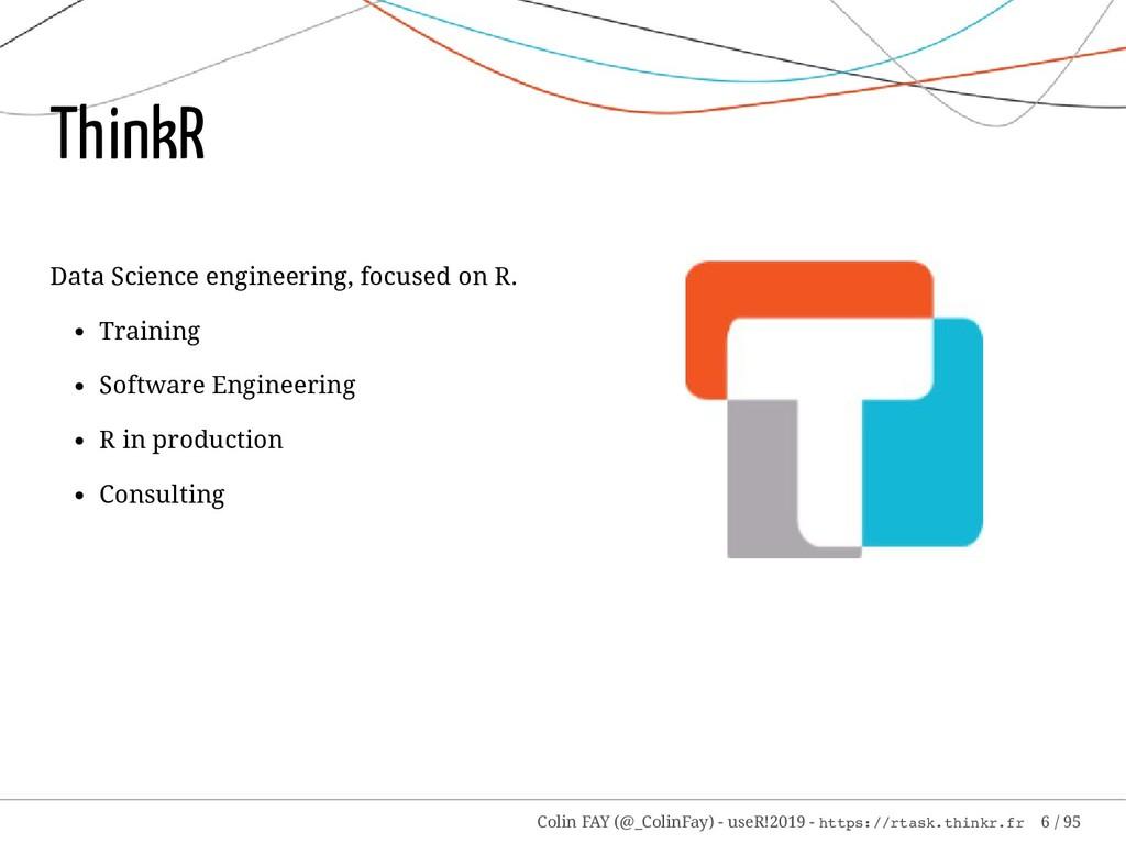 Data Science engineering, focused on R. Trainin...
