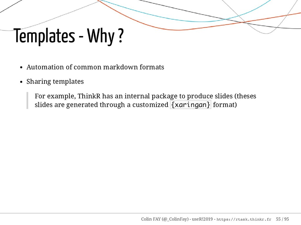 Templates - Why ? Automation of common markdown...