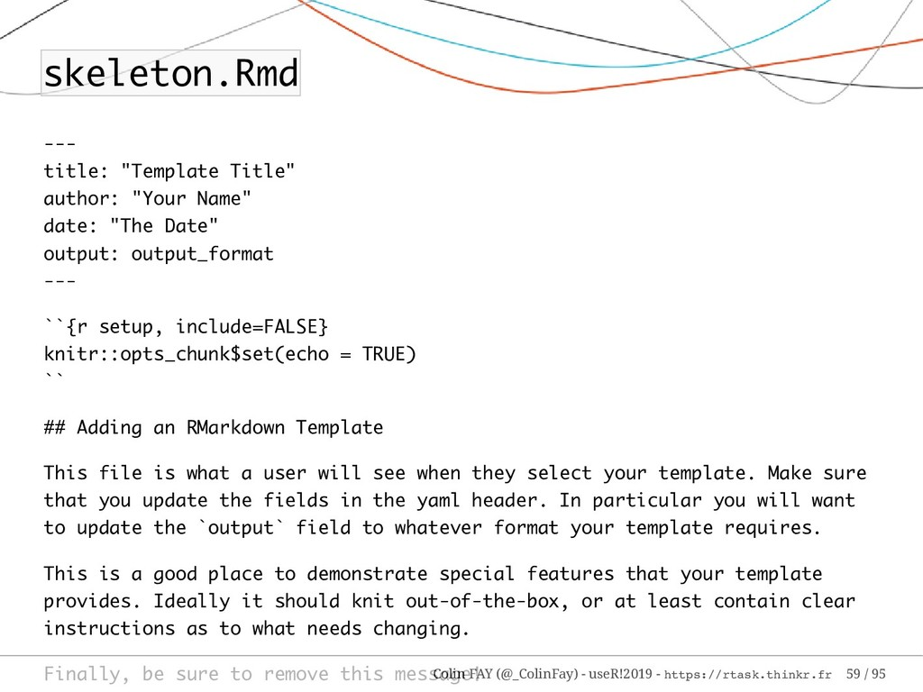 """skeleton.Rmd --- title: """"Template Title"""" author..."""