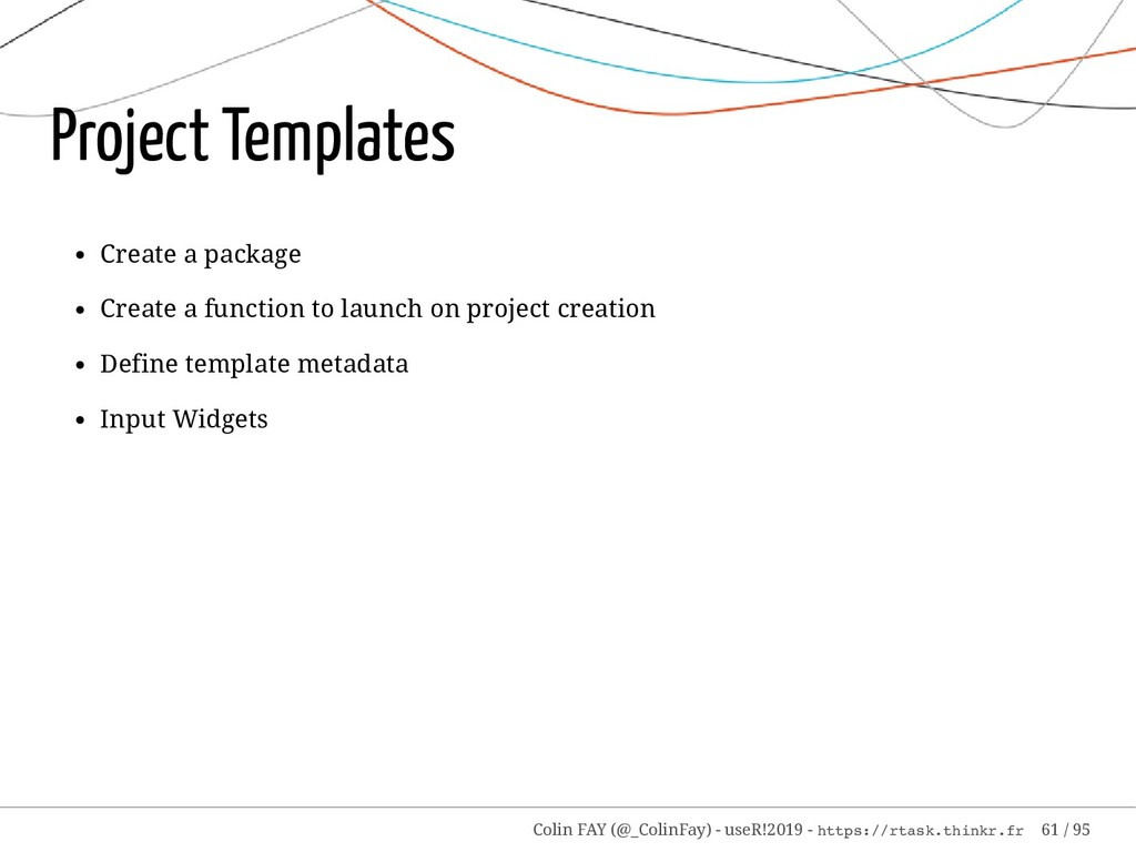 Project Templates Create a package Create a fun...