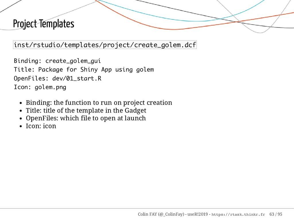 Project Templates inst/rstudio/templates/projec...