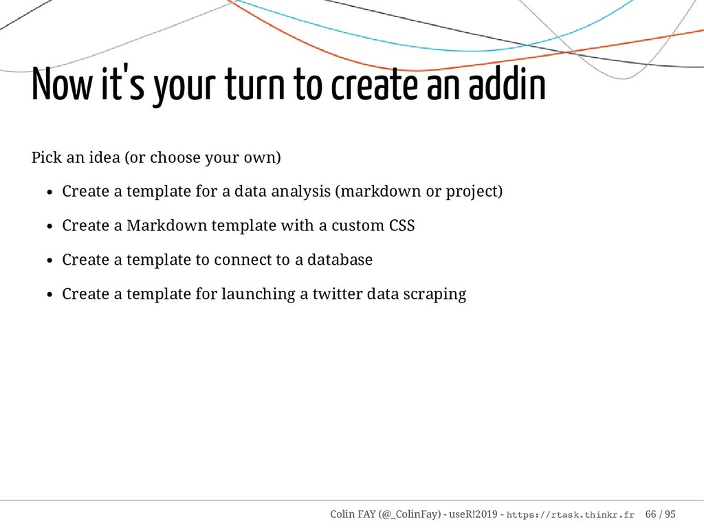 Now it's your turn to create an addin Pick an i...