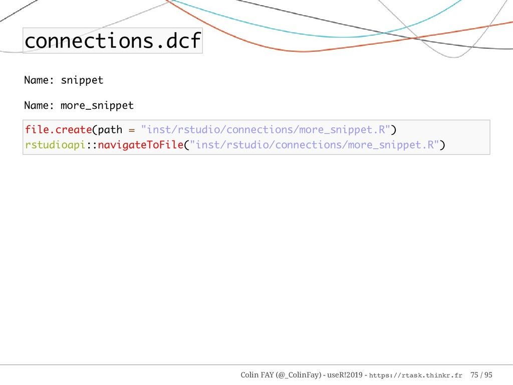 connections.dcf Name: snippet Name: more_snippe...