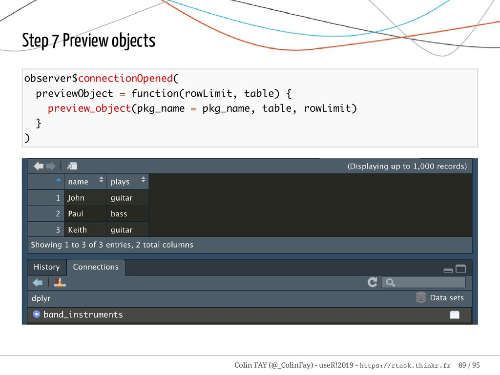 Step 7 Preview objects observer$connectionOpene...