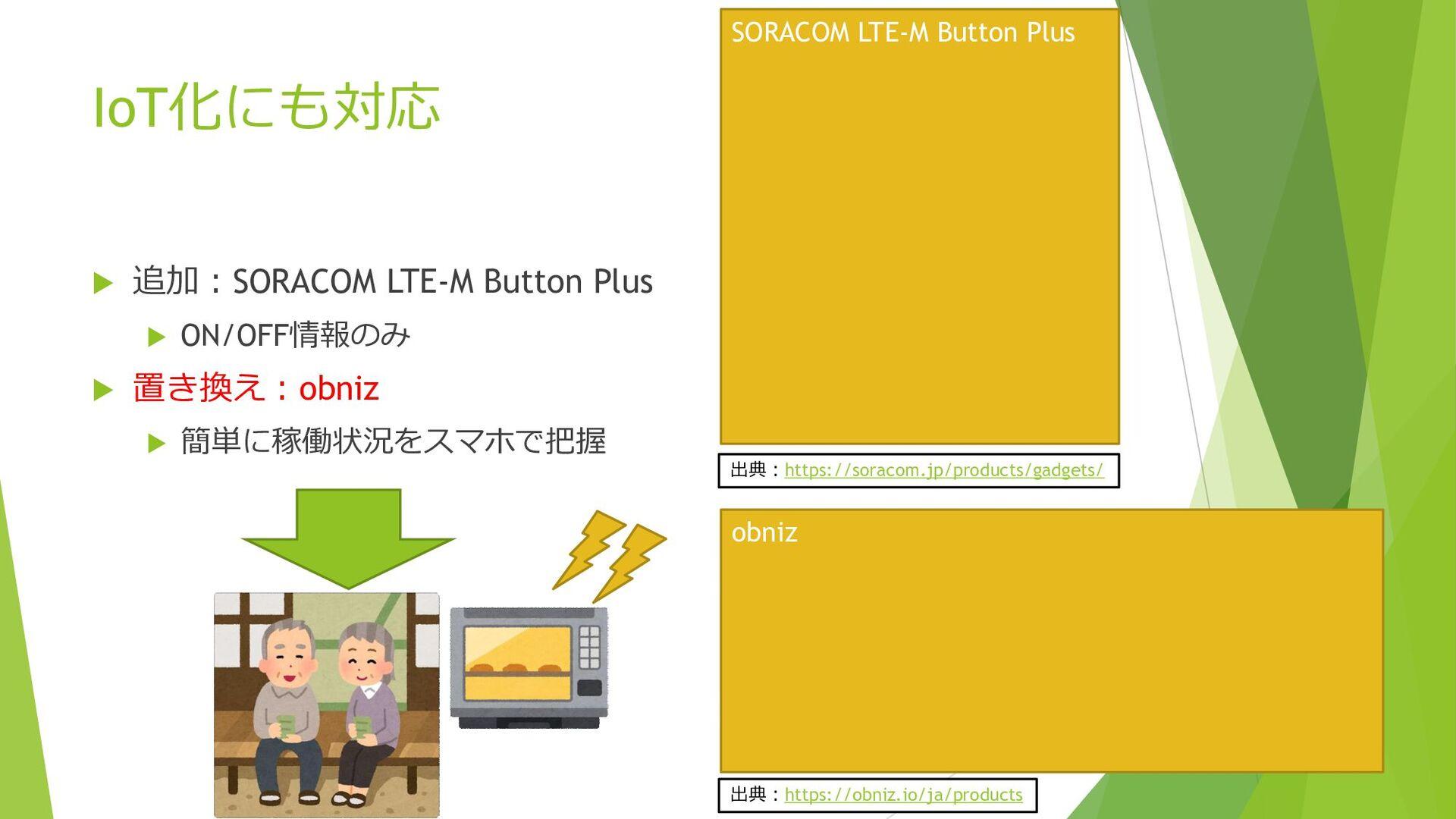 IoT化にも対応  追加:SORACOM LTE-M Button Plus  ON/OF...