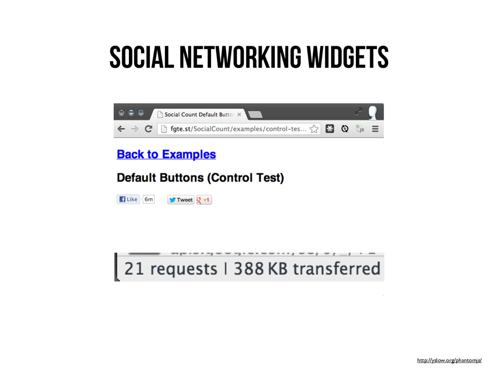 Social Networking Widgets http://yslow.org/phan...