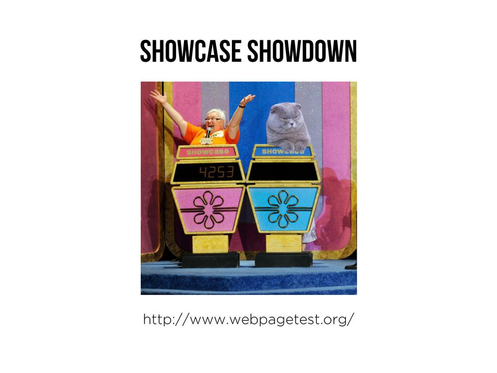 Showcase Showdown http://www.webpagetest.org/