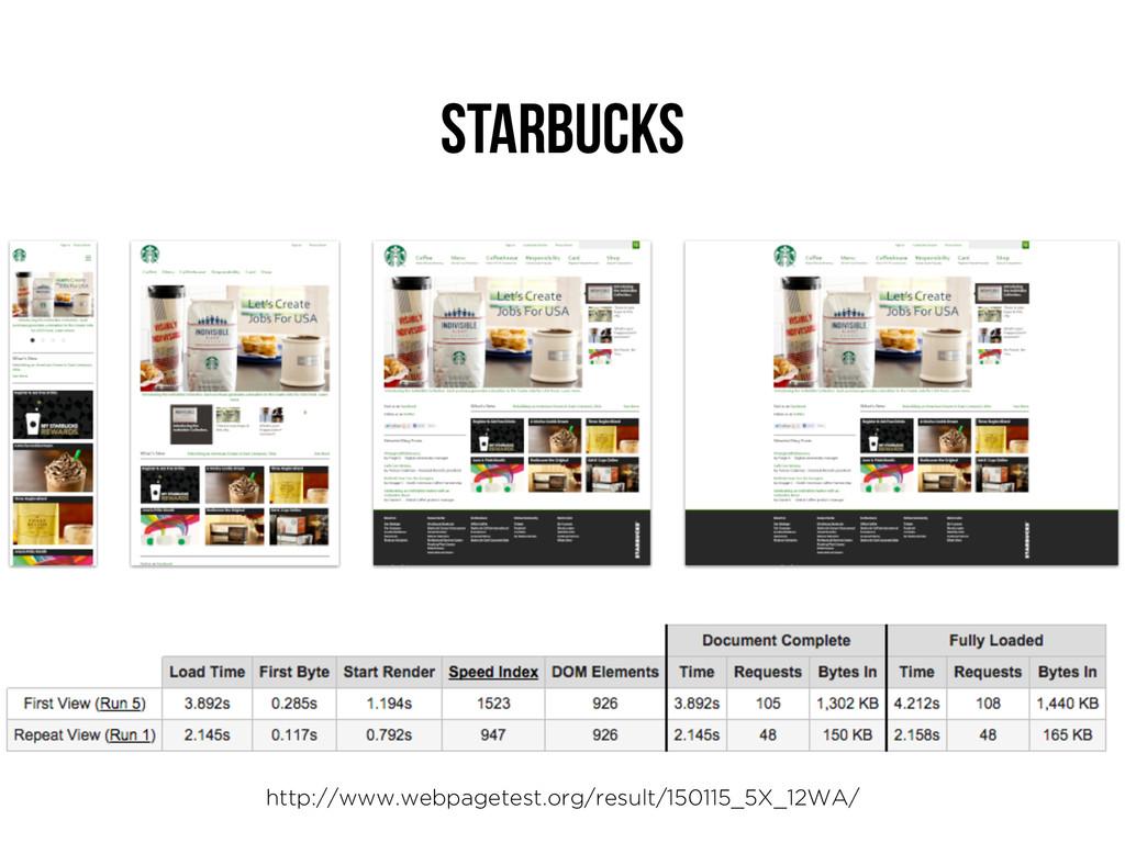 Starbucks http://www.webpagetest.org/result/150...