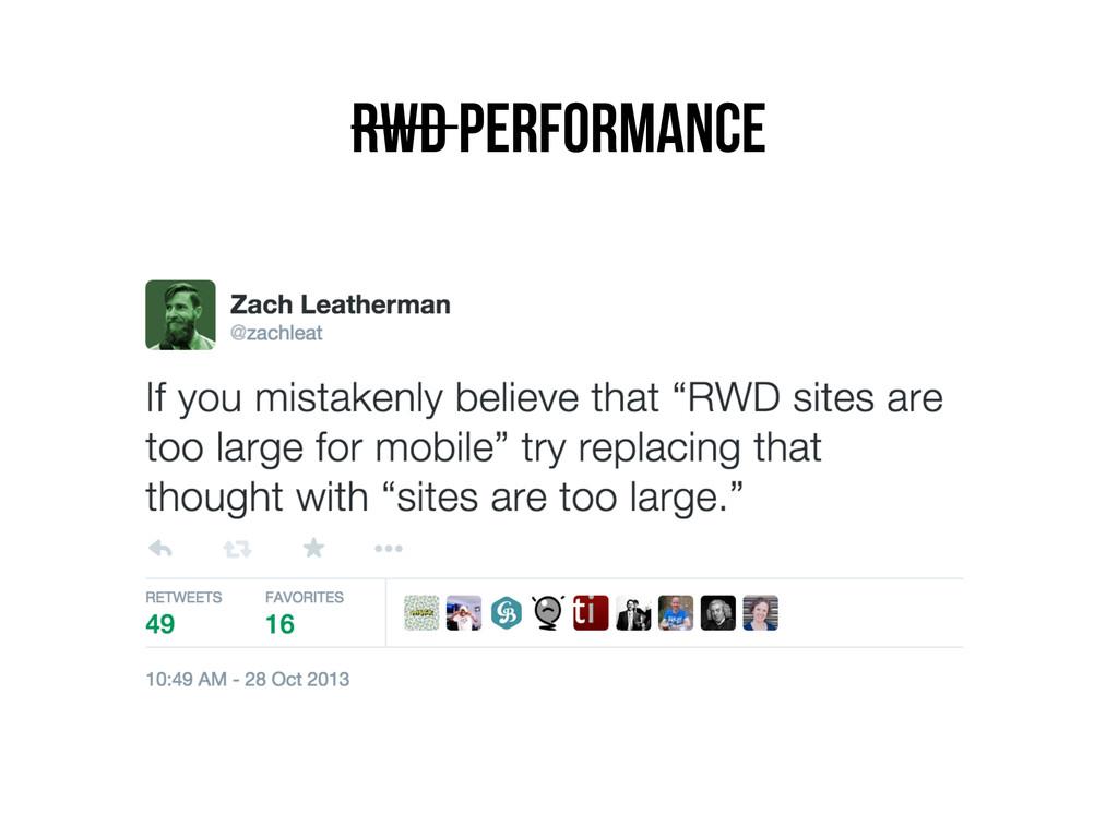 RWD Performance