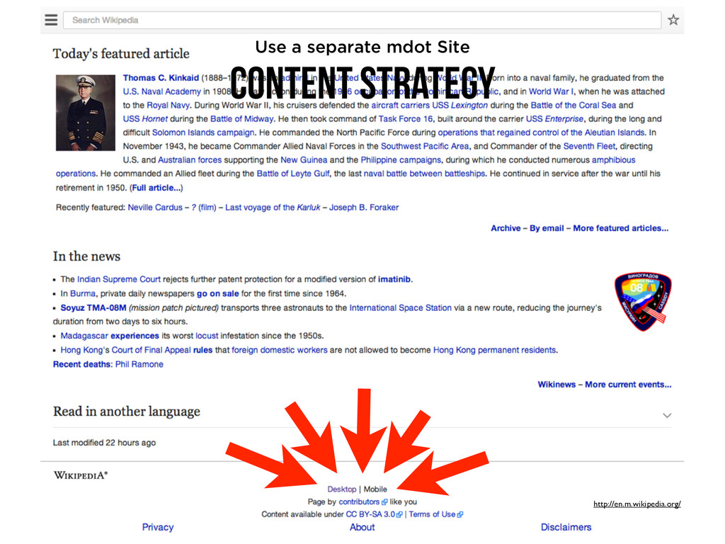 http://en.m.wikipedia.org/ Content Strategy Use...