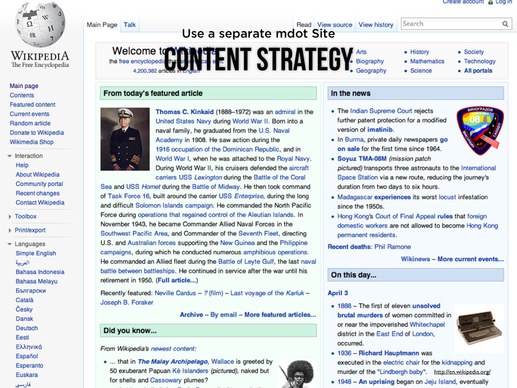 Content Strategy http://en.wikipedia.org/ Use a...