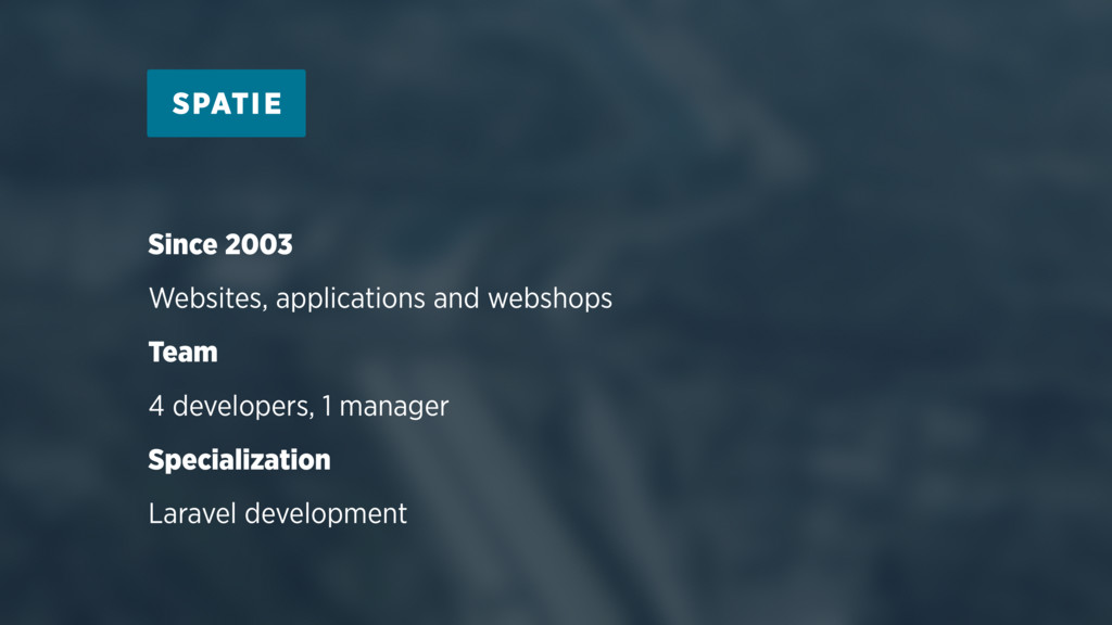 Since 2003 Websites, applications and webshops ...