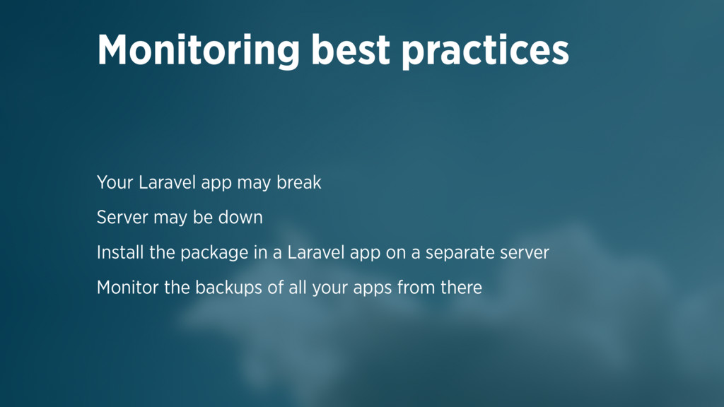 Your Laravel app may break Server may be down I...