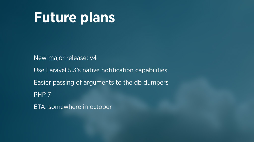 New major release: v4 Use Laravel 5.3's native ...