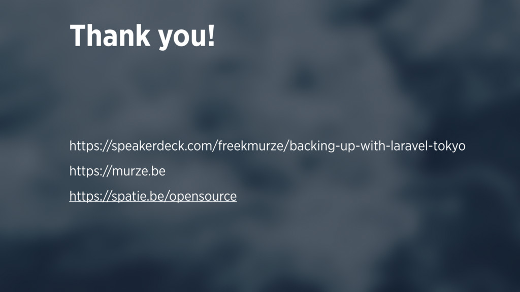 Thank you! https://speakerdeck.com/freekmurze/b...