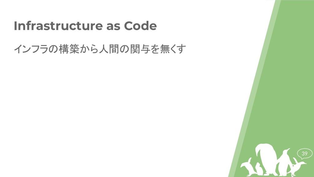 39 Infrastructure as Code インフラの構築から人間の関与を無くす
