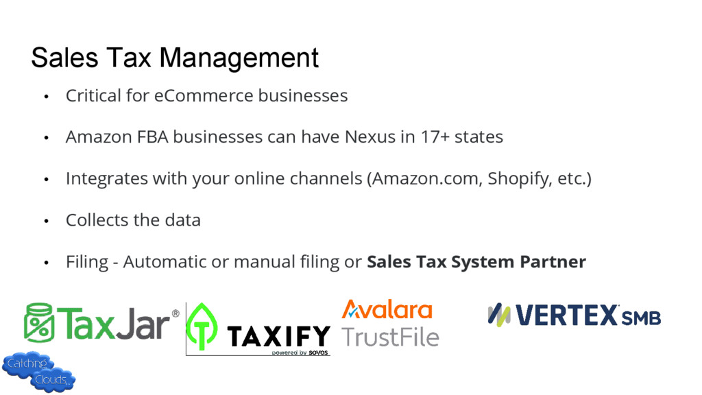 Sales Tax Management • Critical for eCommerce b...