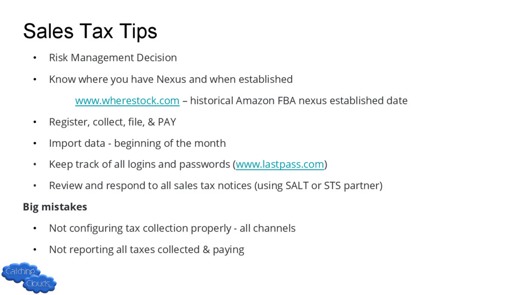 Sales Tax Tips • Risk Management Decision • Kno...