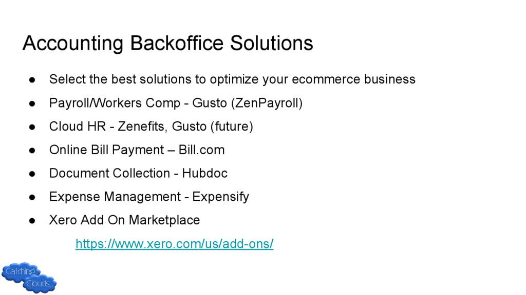 Accounting Backoffice Solutions ● Select the be...