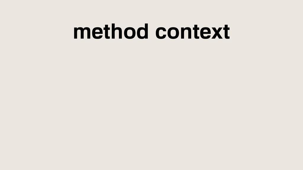 method context